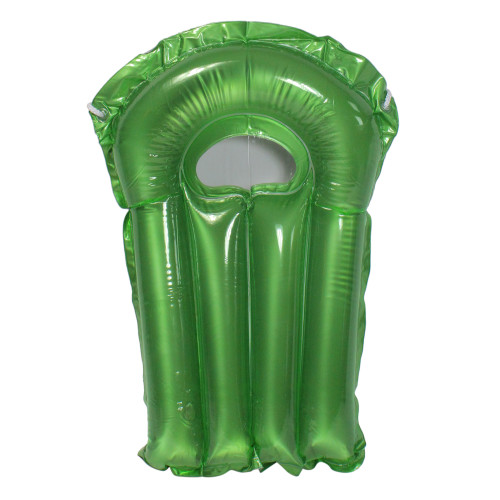 30-Inch Inflatable Transparent Green With Metallic Silver Surf Rider Pool Float - IMAGE 1