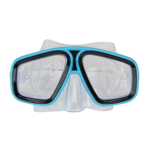 "6.25"" Aqua Blue and Clear Laguna Adjustable Strap Recreational Swim Mask - IMAGE 1"