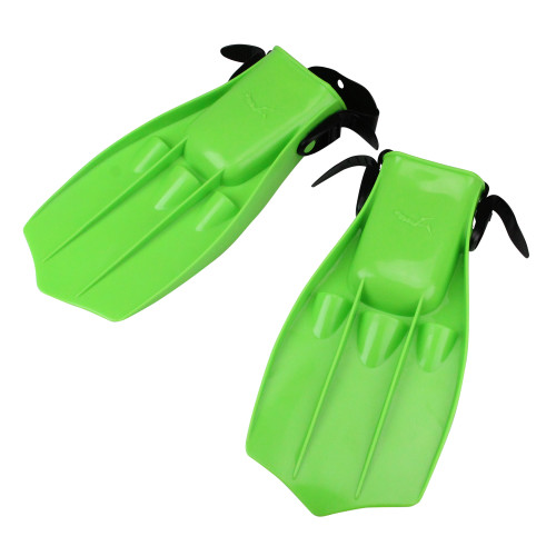 "13"" Florescent Green Dolphin Recreational Swim Fins - IMAGE 1"