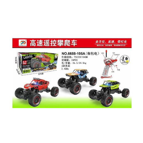 """Pack of 3 Remote Control 1:16 Scale Off-Road Vehicle with Lights and Charger 14.5"""" - IMAGE 1"""
