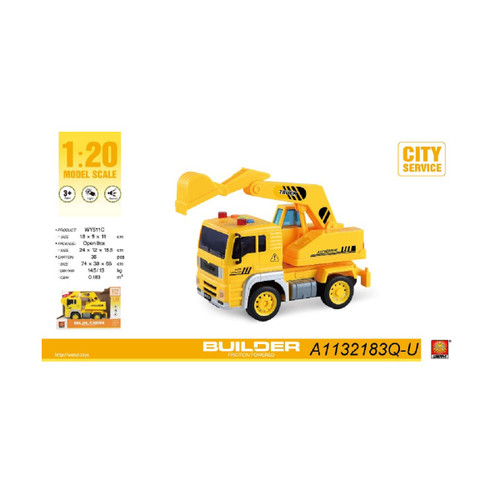 "9.25"" Construction 1:20 Scale Toy Excavator Truck with Sound and Light - IMAGE 1"