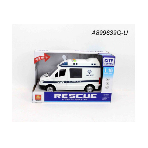 "10.5"" Advanced Rescue Ambulance 1:16 Scale Toy Car with Sound and Light - IMAGE 1"