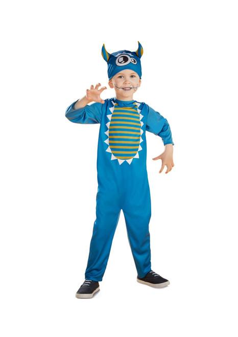 Blue Yellow Baby Dinosaur Boys Halloween Costume –  XSmall - IMAGE 1
