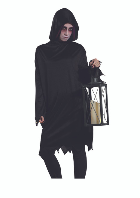 Black Grim Reaper Men Adult Halloween Costume - Medium - IMAGE 1