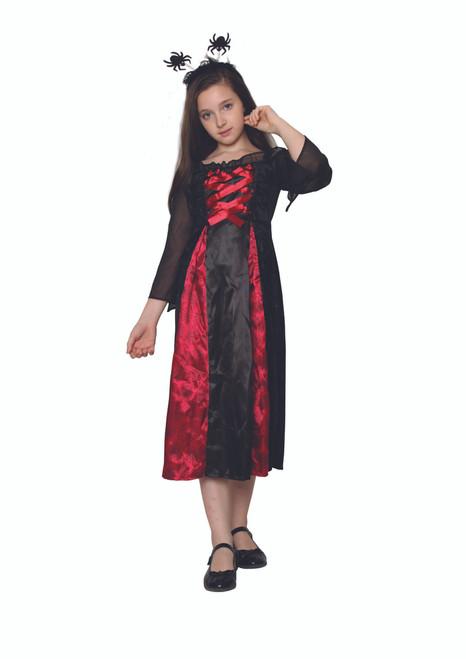 Red and Black Spider Princess Girl Child Halloween Costume - Medium - IMAGE 1