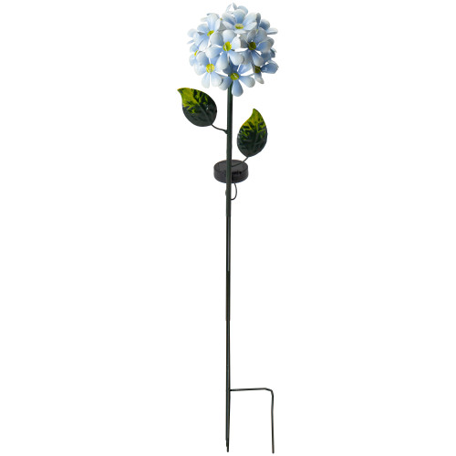 "36"" Blue Hydrangea Light up Solar Lawn Stake - IMAGE 1"