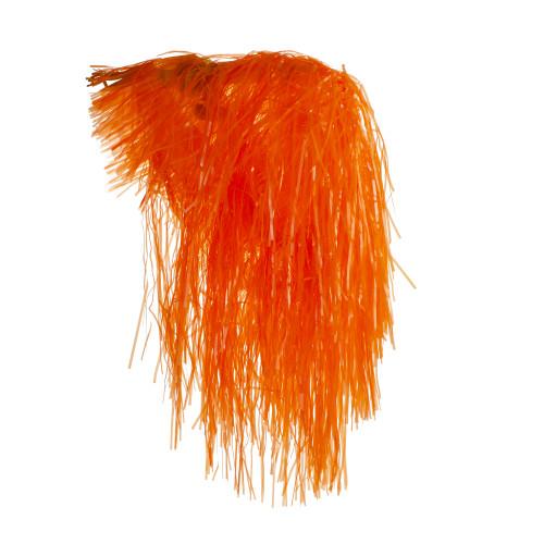 Orange Shiny Women Halloween Wig Costume Accessory - One Size - IMAGE 1