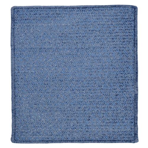 4' Petal Blue Square Braided Area Throw Rug - IMAGE 1