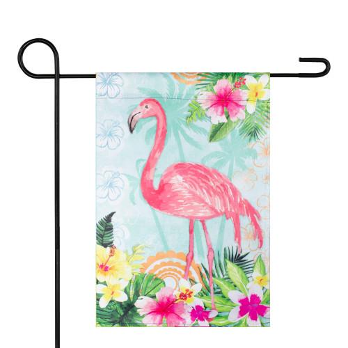 """Tropical Flamingo Spring Outdoor Garden Flag 12.5"""" x 18"""" - IMAGE 1"""