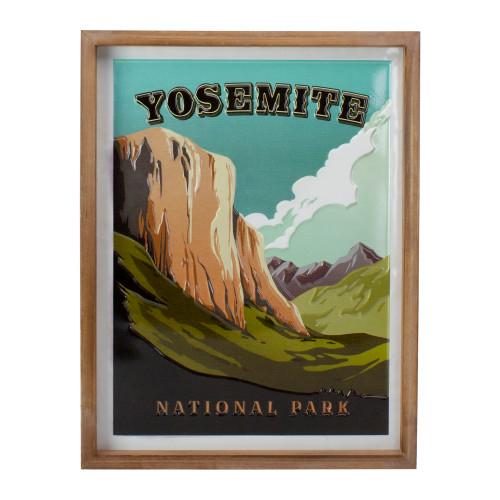 """18"""" Green and Brown Yosemite National Park Wall Art - IMAGE 1"""