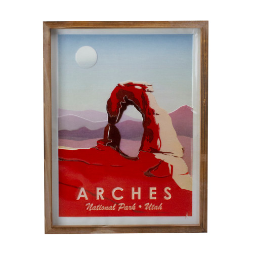 """18"""" Red and Brown Arches National Park Wall Art - IMAGE 1"""