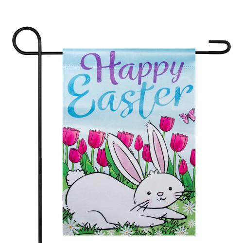 "Happy Easter Bunny Outdoor Garden Flag 12.5"" x 18"" - IMAGE 1"