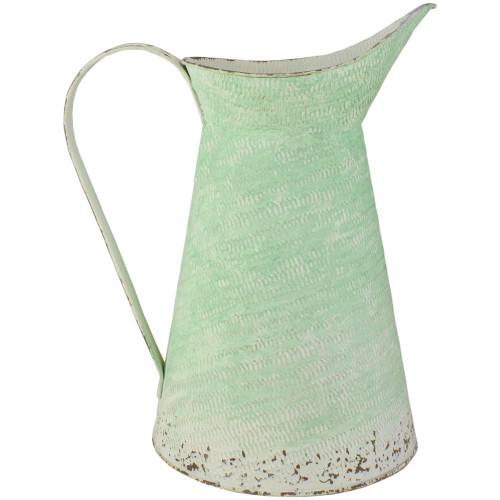 "13"" Green Ombre Decorative Pitcher - IMAGE 1"
