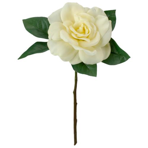 "11"" Cream Color Gardenia Artificial Floral Pick - IMAGE 1"