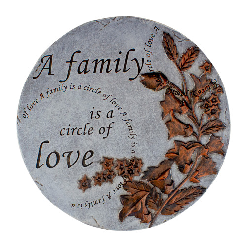 """9"""" Round """"A Family is a Circle of Love"""" Religious Garden Stepping Stone - IMAGE 1"""