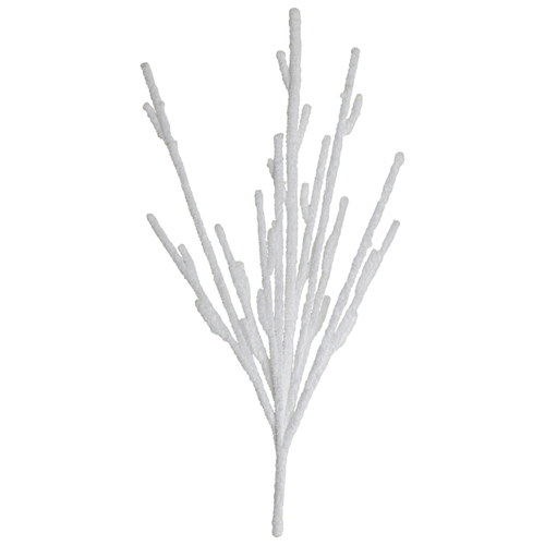 """31"""" White Snow Artificial Christmas Branch Decoration - IMAGE 1"""