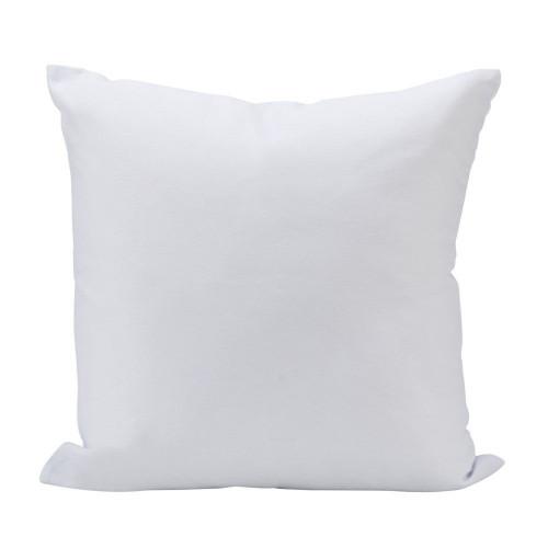 "16"" White Square Soft Throw Pillow - IMAGE 1"