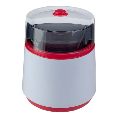 """7.75"""" Black and Red Battery Operated Half Pint Ice Cream Maker - IMAGE 1"""