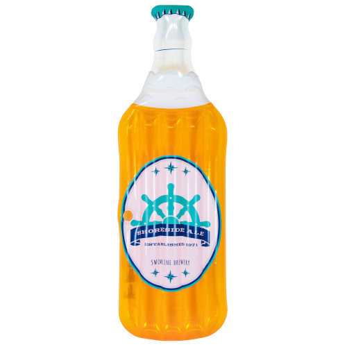 """81"""" Yellow and White Beer Bottle Swimming Pool Inflatable Float - IMAGE 1"""