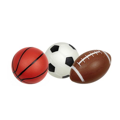 Set of 3 Pebble Textured PVC Sports Water Sports Balls - IMAGE 1