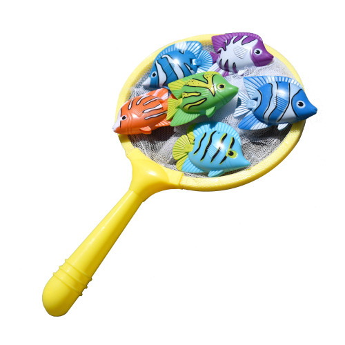 """9"""" Colorful Weighted Fish Catching Water Game - IMAGE 1"""