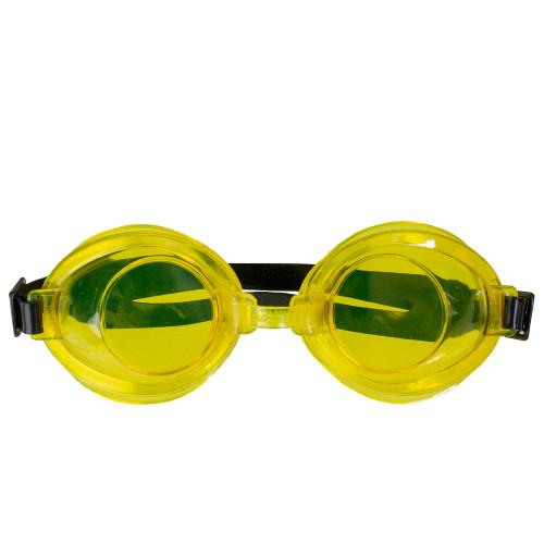 "7"" Yellow Anti-Leak Adjustable Swimming Pool Goggles - IMAGE 1"