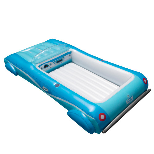 """105"""" Blue Classic Convertible Car Swimming Pool Lounger Float - IMAGE 1"""