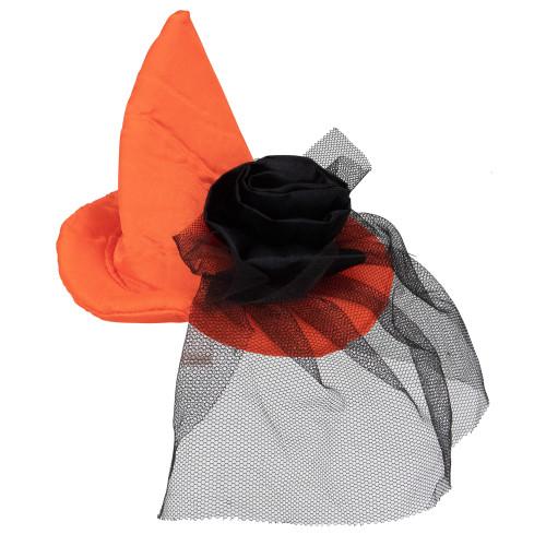 "8"" Orange Hair Barrette Costume Accessory - IMAGE 1"