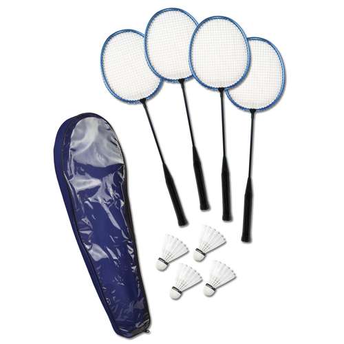 Deluxe Set of 4 Rackets and Birdies Badminton Game with Case - IMAGE 1