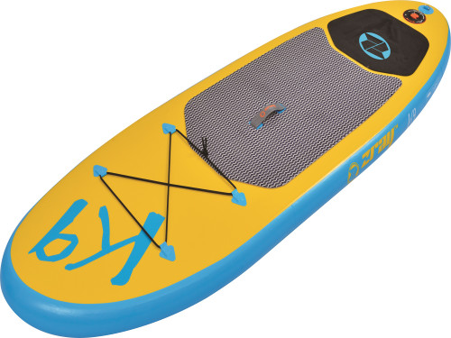 "8"" Inflatable Blue and Yellow Z-Ray SUP K9 Teen Paddle Board - IMAGE 1"