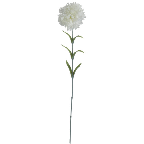 """24"""" White Carnation Artificial Flower - IMAGE 1"""