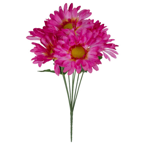 """13"""" Pink and Green Artificial Daisy Bouquet - IMAGE 1"""