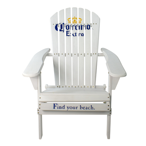 "36"" White Corona Classic Folding Wooden Adirondack Chair - IMAGE 1"