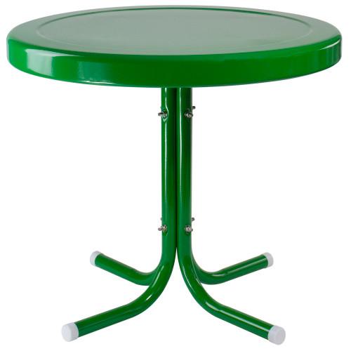 "22"" Outdoor Retro Tulip Side Table, Green - IMAGE 1"