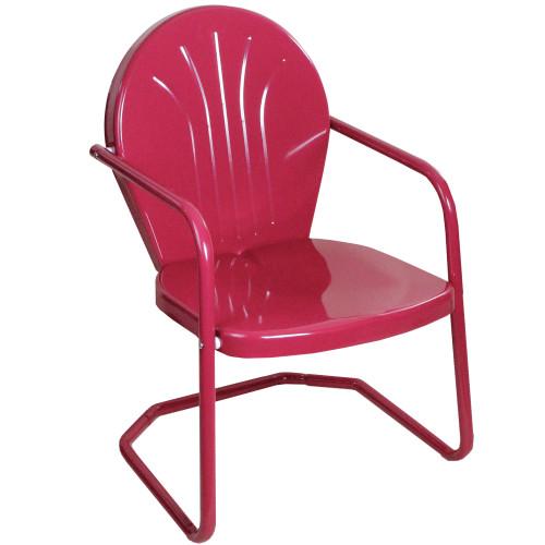34-Inch Outdoor Retro Tulip Armchair, Pink - IMAGE 1