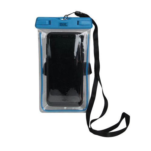 Blue and Clear Waterproof Travel Mobile Phone Case - IMAGE 1