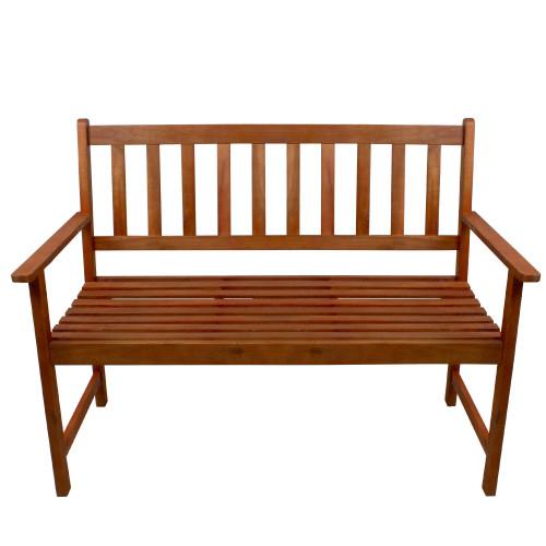 "48"" Light Brown Acacia Wood Outdoor Patio Bench - IMAGE 1"