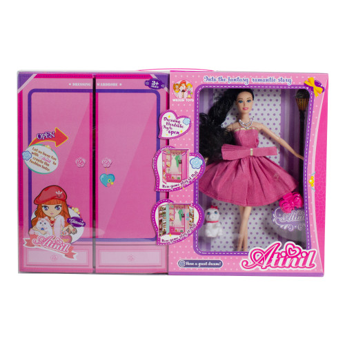 "11"" Pink Beauty Play Doll Set with Multiple Accessories and Wardrobe - IMAGE 1"