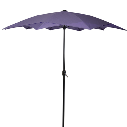 8.85ft Outdoor Patio Lotus Umbrella with Hand Crank, Purple - IMAGE 1