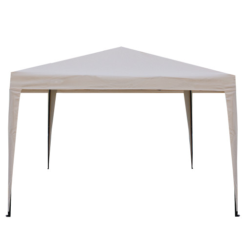 10' x 10' Beige Pop-Up Outdoor Canopy Gazebo - IMAGE 1