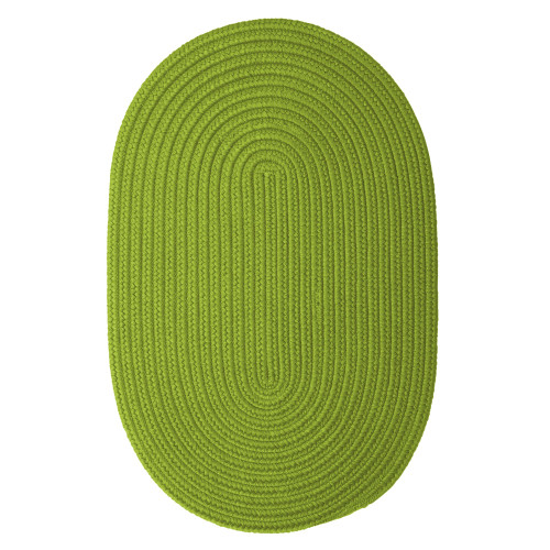 """6"""" x 9"""" Lavish Green All Purpose Handcrafted Reversible Oval Outdoor Area Throw Rug Sample - IMAGE 1"""