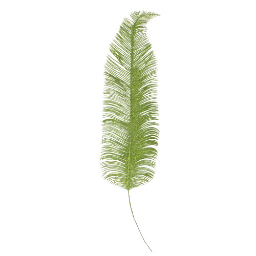 """24"""" Artificial Metallic Green Palm Frond Floral Spray - IMAGE 1"""