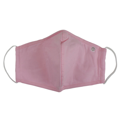 Pack of 5 Pink 3 Ply Reusable Fabric Face Masks with Seam - IMAGE 1