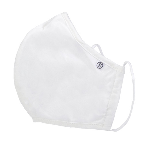 Pack of 5 White 3 Ply Reusable Fabric Face Masks with Seam - IMAGE 1