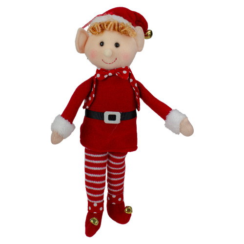 """15"""" Boy Elf in Red Sweater Christmas Ornament - IMAGE 1"""
