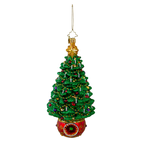 Christopher Radko Truly Terrific Tree Glass Christmas Ornament - IMAGE 1