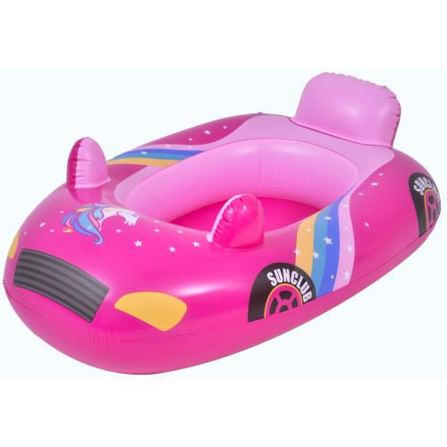 "34"" Pink Children's Race Car Swimming Pool Float - IMAGE 1"