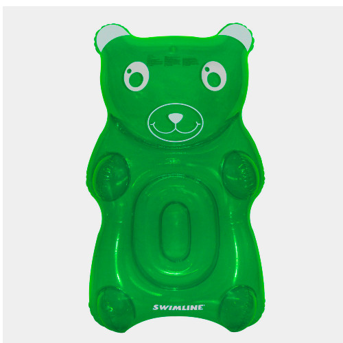 """60"""" Green and White Gummy Bear Swimming Pool Float - IMAGE 1"""