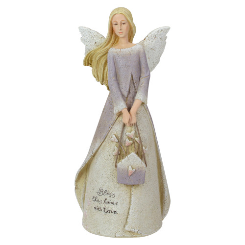 """8.5"""" Bless This Home Religious Angel Figure - IMAGE 1"""