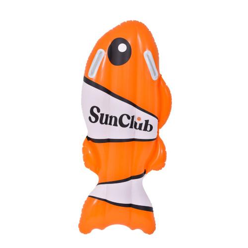 """39"""" Inflatable Orange and White Fish Kickboard - IMAGE 1"""